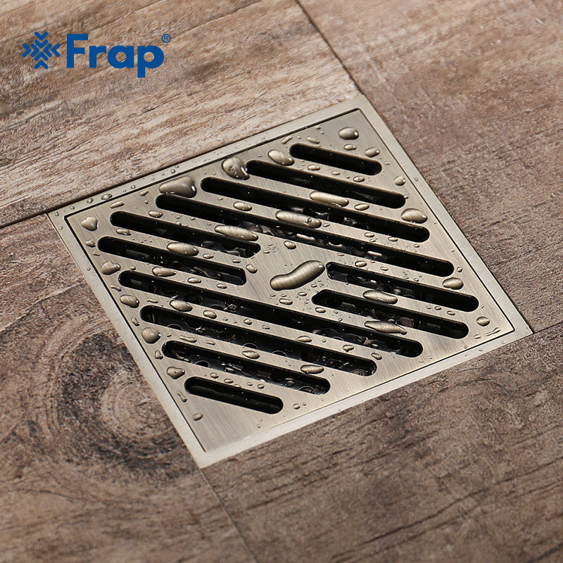 FRAP Chinese Style Classical Floor Drain Large Flow Deodorant Insect Proof Anti-water All Copper Waste Drainer Floor DrainY38059 new luxury classical antique bronze push down pop up drainer waste without overflow