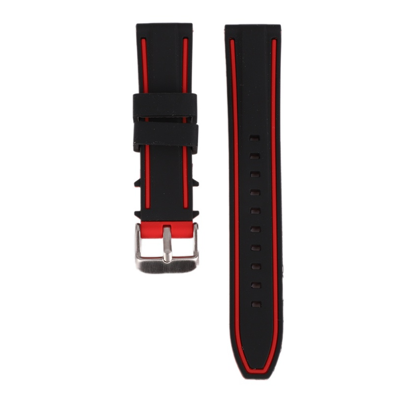 20mm 22mm 24mm 26mm Men Silicone Watch Band Sport Diver Waterproof Rubber Strap Replacement new watch band 20mm 22mm 24mm men black silicon rubber waterproof divers watch strap band red thread for panerai free shipping