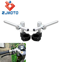 Motocicleta ajustável boleto cnc clip on ons guiador 50mm guiador|clip on handlebar|handlebar adjustable|adjustable handlebars -