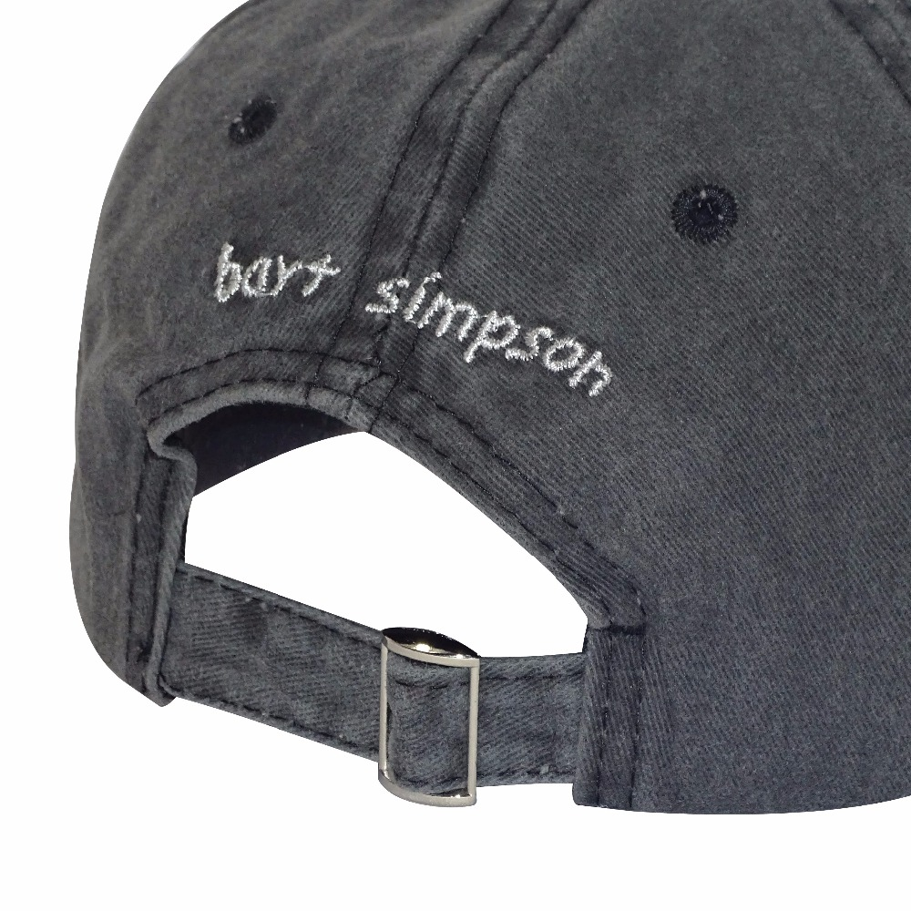 MinanSer Men s Washed Cotton Baseball Cap Vintage Simpsons embroidery  womens baseball hats Mens Dad Cap Hat-in Baseball Caps from Apparel  Accessories on ... 9bf9c9ee831e
