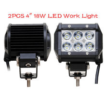Arrive 2PCS 4inch 18W led work light lamp Tractor Boat Off-Road 4WD 4x4 12v 24v Truck SUV ATV Spot Flood Super Bright(China)