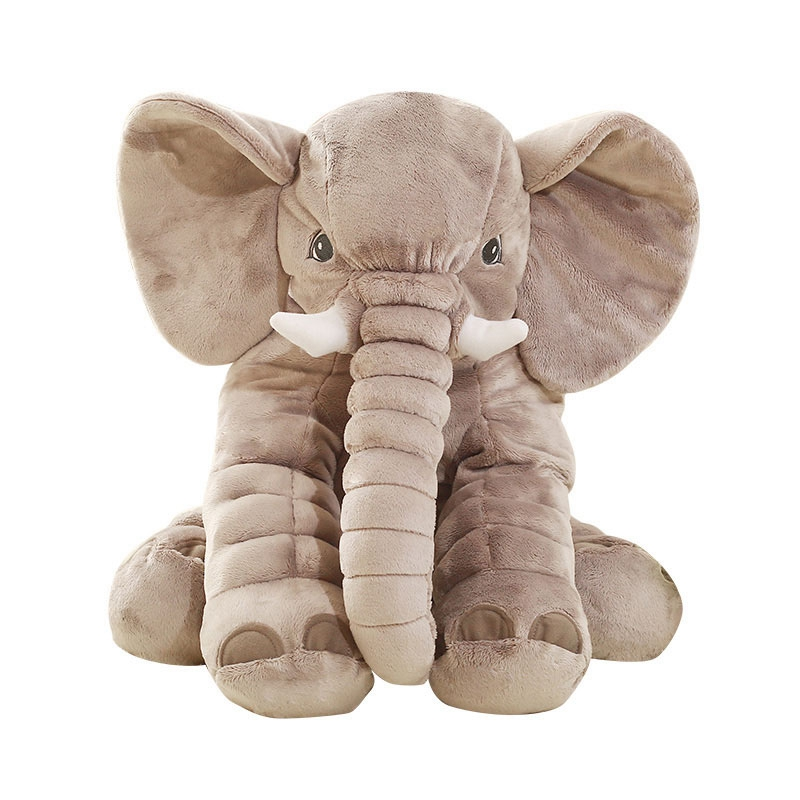80cm elephant plush pillow cute elephant toy stuffed soft animal doll baby kids toy gift for her elephant animal series many chew toy