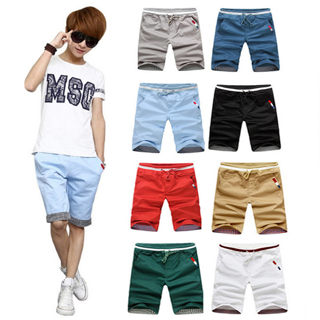 2017 Hot Sale Men's Summer fashion  Shorts Male Casual  Joggers leisure Elastic Waist  Drawstring design Trousers