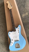 Wholesale Cheap Guitar New Fdr Jaguar Electric Guitar Left Handed Top Quality In Light Blue 170429