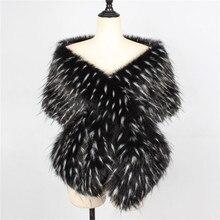 Lanshifei 2019 new style long imitation rex luxurious fox fur scarves with faux fur color warm hedge collar fur collar scarf
