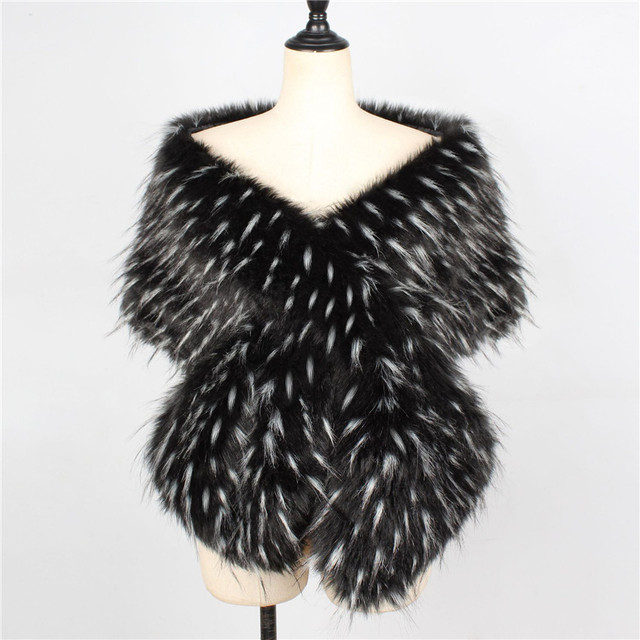 Lanshifei 2019 new style long imitation rex luxurious  fox fur scarves with faux fur color warm hedge collar fur collar scarf