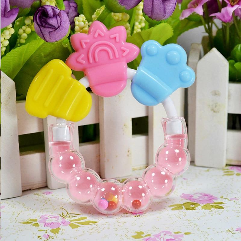 Silikon Baby Beißring Spielzeug Neugeborene Baby Beißring für - Säuglingspflege - Foto 4