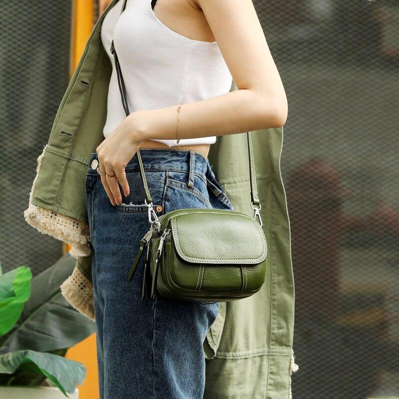 2018 women messenger bags genuine leather designer brand shoulder crossbody bag fashion casual mini top handbag bolsas feminina