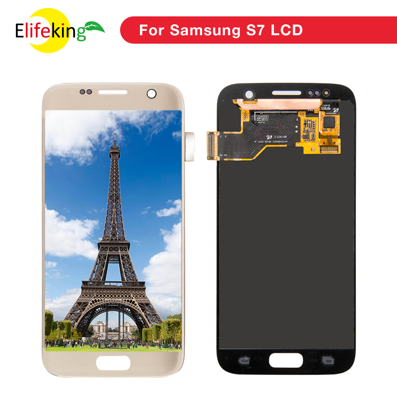 10PCS/Lot Touch Screen Digitizer Assembly 100% Tested For Samsung Galaxy s7 G930 G930F Replacement Mobile Phone Lcd10PCS/Lot Touch Screen Digitizer Assembly 100% Tested For Samsung Galaxy s7 G930 G930F Replacement Mobile Phone Lcd