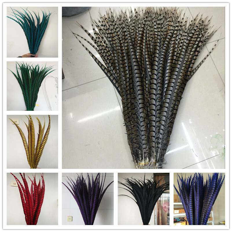 100pcs 28-32inche/70-80cm Natural Lady Amherst Pheasant Feather Pheasant Feathers For Carnival Party Costumes Cosplay Decoration