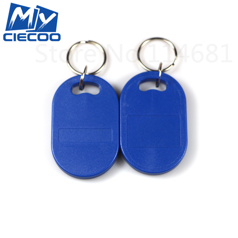 5Pcs EM4100  RFID Tag Proximity ID Token Tags  125Khz  Key Keyfobs  For Door Access Control  Blue Color usb 125khz em4100 rfid proximity reader 5 cards 5 key tags 5 dia card