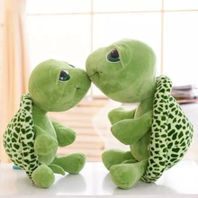 18cm super cute green big eyes turtle plush toy soft animal doll children gift