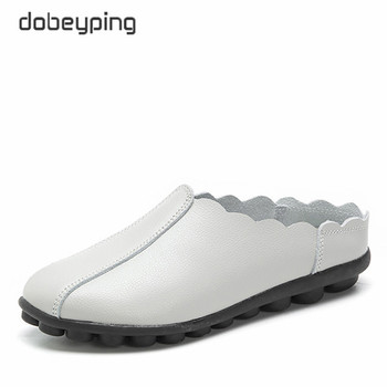 dobeyping New Casual Shoes Woman Soft Genuine Leather Women Flats Slip On Women's Loafers Fashion Female Shoe Plus Size 35-43 2017 summer women s casual shoes genuine leather woman flats slip on femal loafers lady boat shoe big size 35 44 in 8 colors