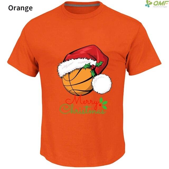 santa cap printed men t shirt holiday ugly christmas tee shirts short sleeve fashion tops funny - Ugly Christmas Tee Shirts