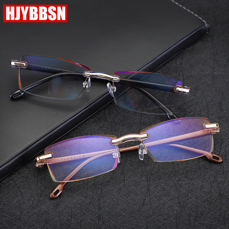 2019 Brand Anti-blue Light Radiation-proof Reading Glasses Men Women Fashion Borderless Ladies Women's Glasses Oculos