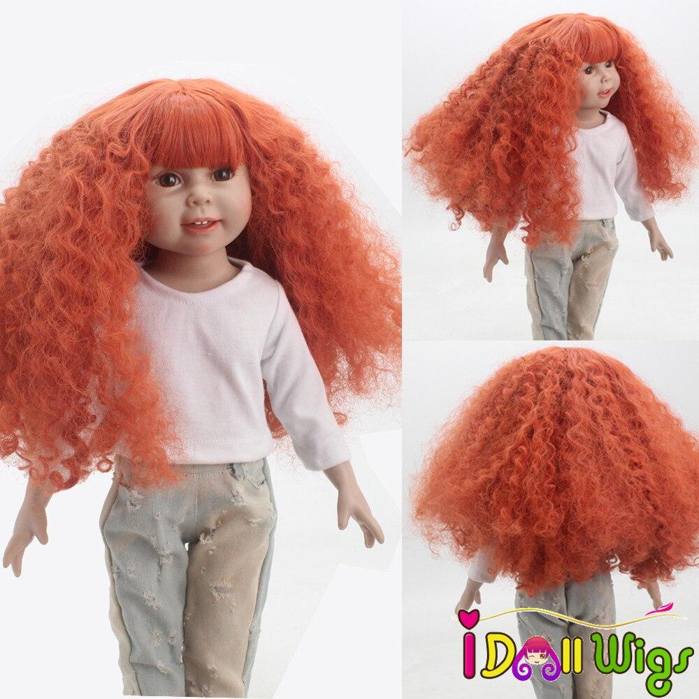 26cm Head Circumference Doll Wigs Heat Resistant Fiber ...