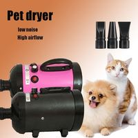 3 Color 220v Pet Dryer Blower 2800W Adjustable Dog Grooming Dryer Pet Hair Dryer Strong Power Low Noice Blower with Eu Plug