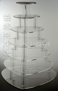 7 Tier Heart Shape Beautiful Acrylic Cupcake Stands Party / Wedding / Festival Supplies Cake Display Shelf