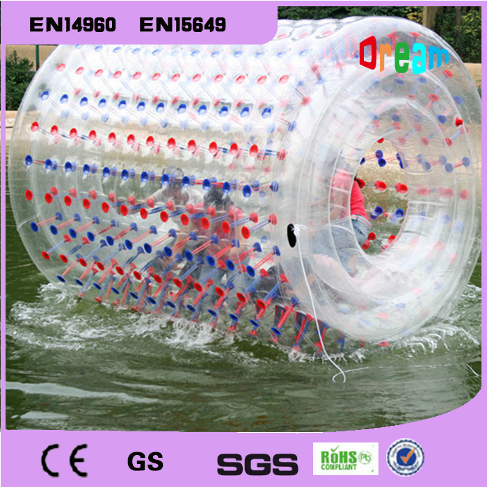 Free Shipping 100%PVC Inflatable Water Walking Ball Inflatable Water Ball Water Roller Inflatable Rollong Ball inflatable water spoon outdoor game water ball summer water spray beach ball lawn playing ball children s toy ball