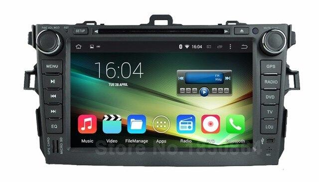Quad Core HD 1024*600 Android 5.1.1 Dvd-плеер Автомобиля Радио для Toyota Corolla 2011 2010 2009 2008 2007 2006 с BT Wi-Fi GPS