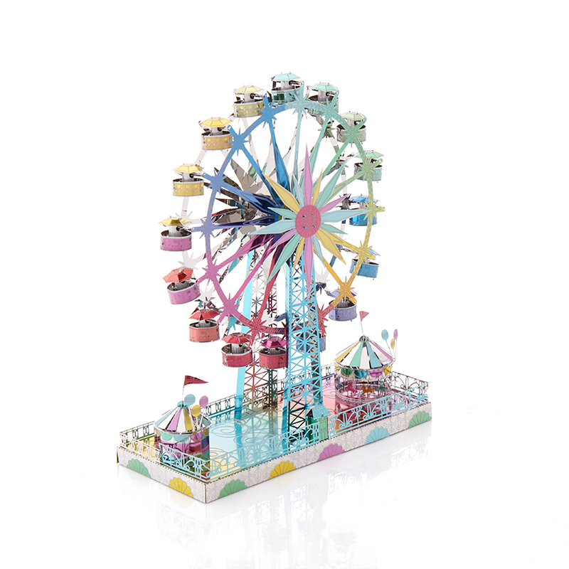 New playground Ferris wheel 3D metal puzzle model puzzle set DIY jigsaw puzzle children's toys children's best gift oyuncak цена