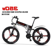 Motor Portable Electric Bicycle With 26 2019 New Built-in Lithium Battery Bicycle, Folding Bike Off Road