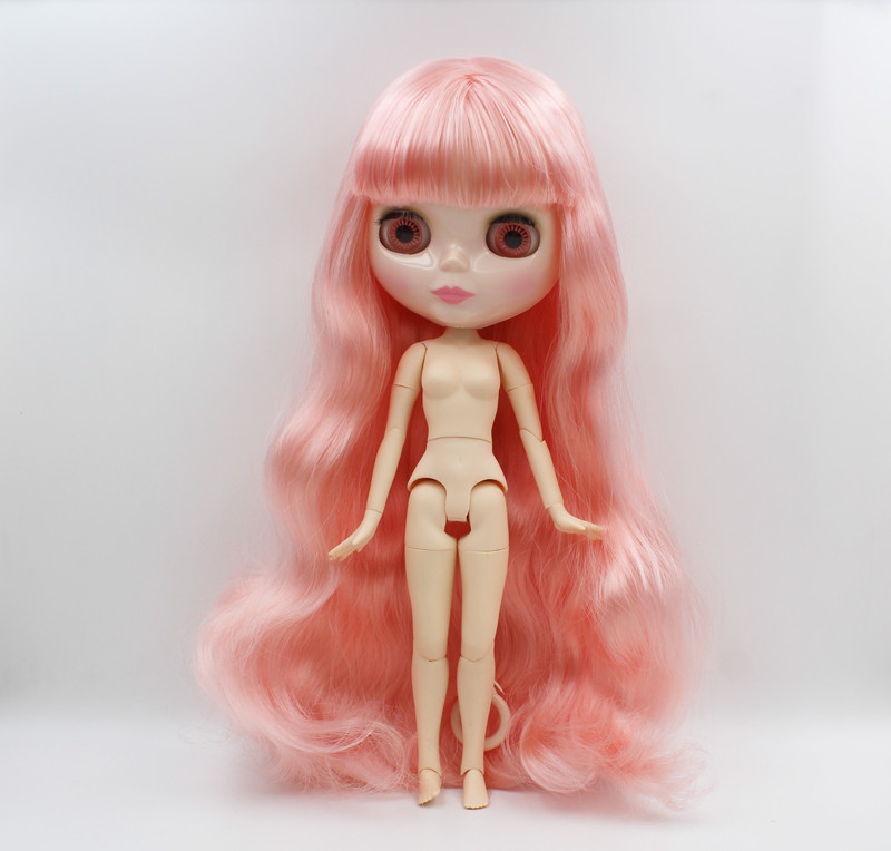 Free Shipping BJD joint RBL-515J DIY Nude Blyth doll birthday gift for girl 4 colour big eyes dolls with beautiful Hair cute toy цены