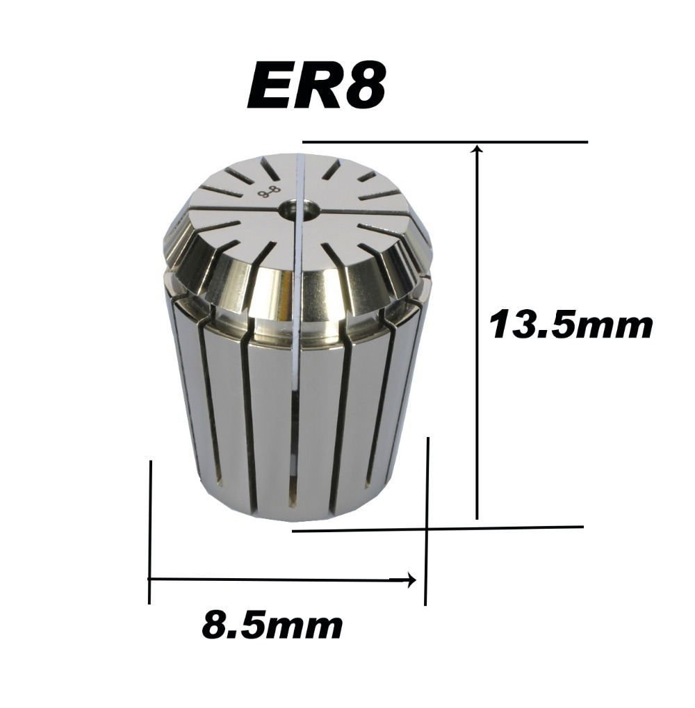 High precision ER8 Accuracy 0.008mm Spring Collet  For CNC Milling Machine Engraving Lathe Tool Free ShippingHigh precision ER8 Accuracy 0.008mm Spring Collet  For CNC Milling Machine Engraving Lathe Tool Free Shipping