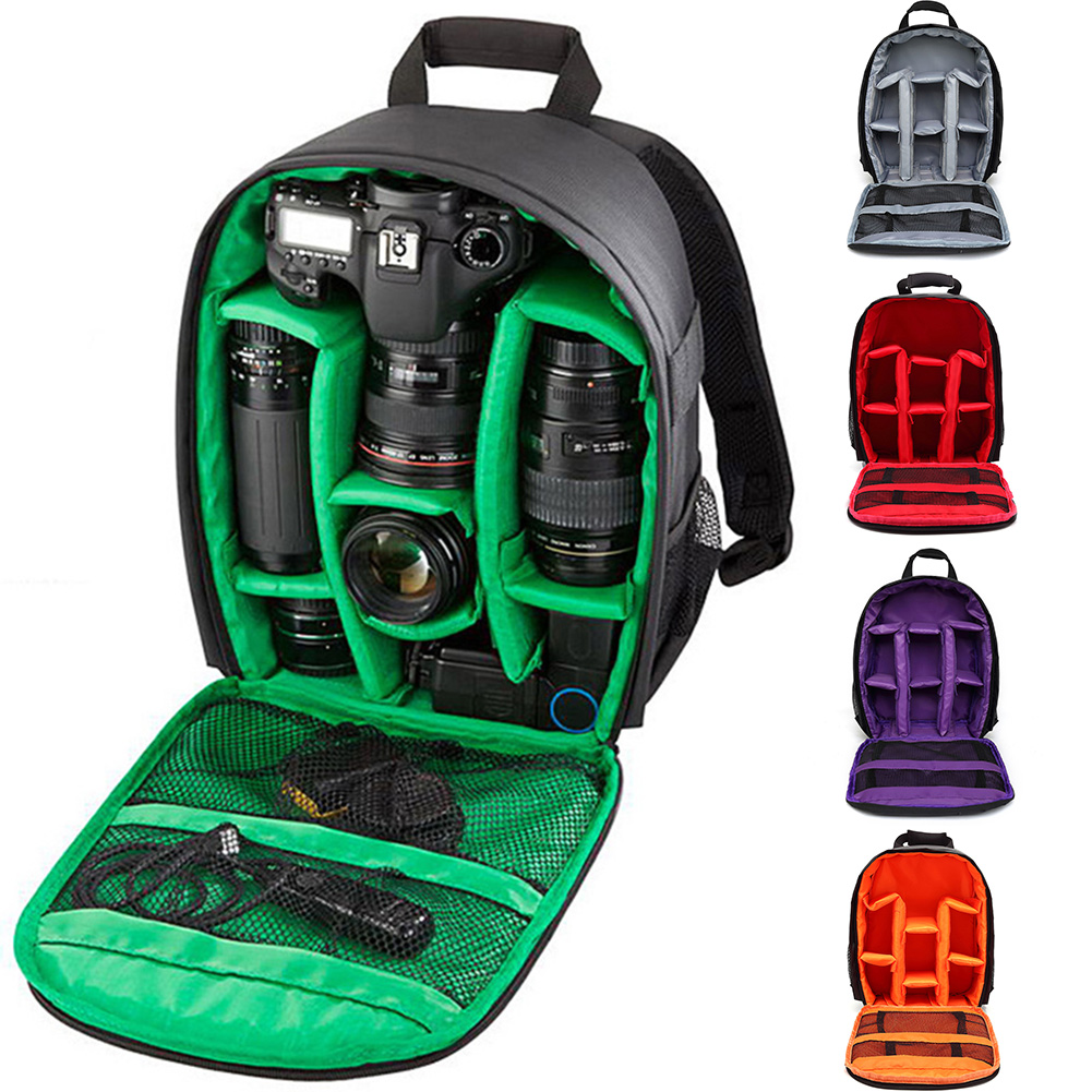 Waterproof SLR Backpack Digital Camera Bag Outdoor Multi-function Shockproof Camera Backpack for Nikon  SLR Camera Lens Bag