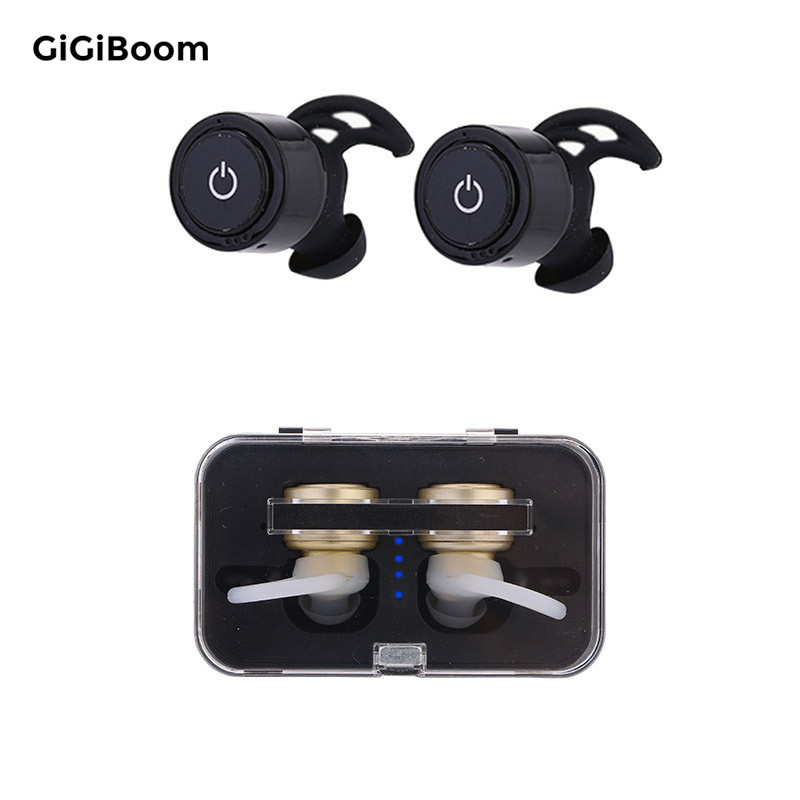 GiGiboom Mini Twins True Wireless Stereo Bluetooth Earphones CSR 4.0 bluetooth Handsfree headset with Charging Box Dock Earbuds