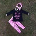 fall clothes baby clothes the  girl run on cupcakes Jesus girls Sequins pant sets black shirt headband