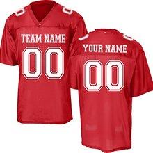 Réplica personalizada práctica rojo fútbol Jersey Unisex juventud adulto)  DIY logotipo de su equipo nombre Número chino OEM para. 01a3c36ed8528
