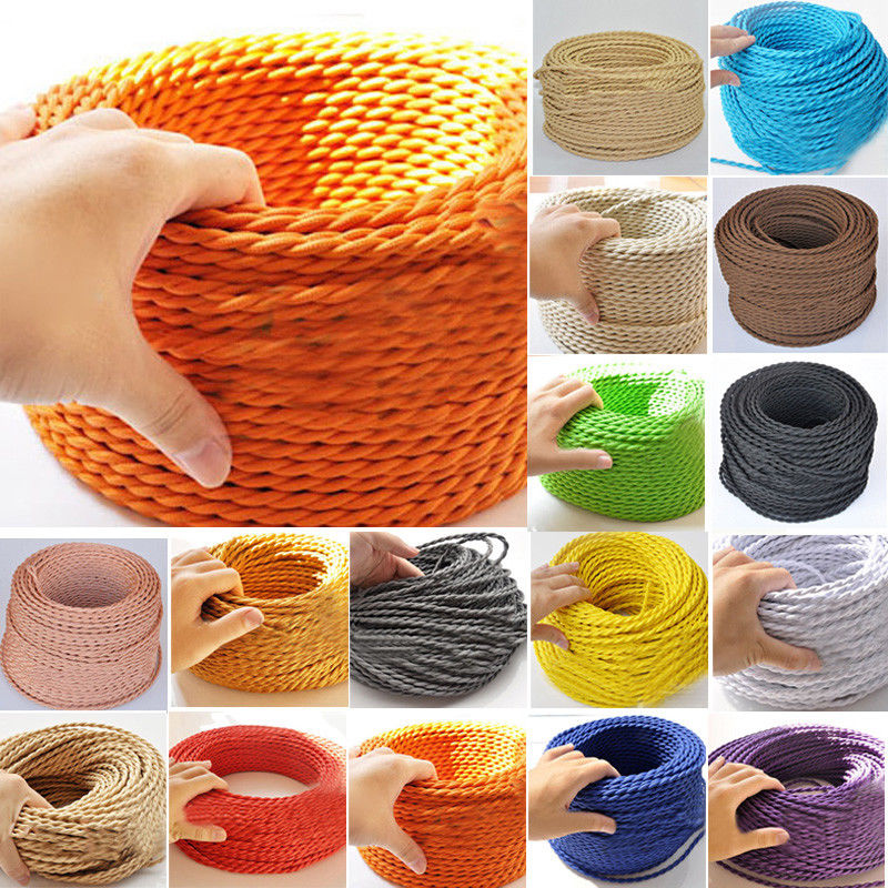 FREE Shipping 50m/lot 2x0.75mm Textile Electrical Wire Color Braided Wire Fabric Covered Electrical Power Cord Fabric WireFREE Shipping 50m/lot 2x0.75mm Textile Electrical Wire Color Braided Wire Fabric Covered Electrical Power Cord Fabric Wire