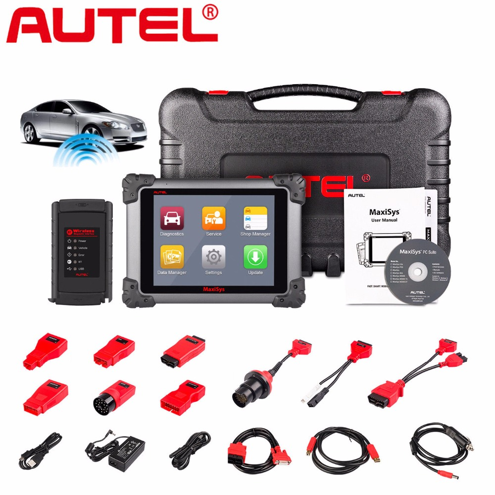 Autel MaxiSys MS908 Connect MaxiFlash j2534 Be Equal to Maxisys PRO MS908P Car Diagnostic and programming Tool OBD2 OBD TOOL autel maxisys elite car diagnosis j2534 ecu programing tool faster than ms908p 908 pro free update 2 years on autel website