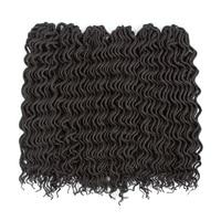 ELEGANT MUSES 6 Packs Lot 18 Curly Faux Locs Crochet Hair Goddesss Dreadlocs Deep Wavy Faux