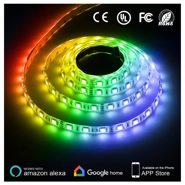 Led light strip compatible with alexa 300 units 5050 smd leds tape led light strip compatible with alexa 300 units 5050 smd leds tape lighting aloadofball Gallery