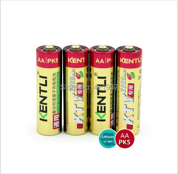4 pcs/lot KENTLI KTV special 1.5V AA 2800mWh rechargeable lithium-ion battery wireless microphone rechargeable battery