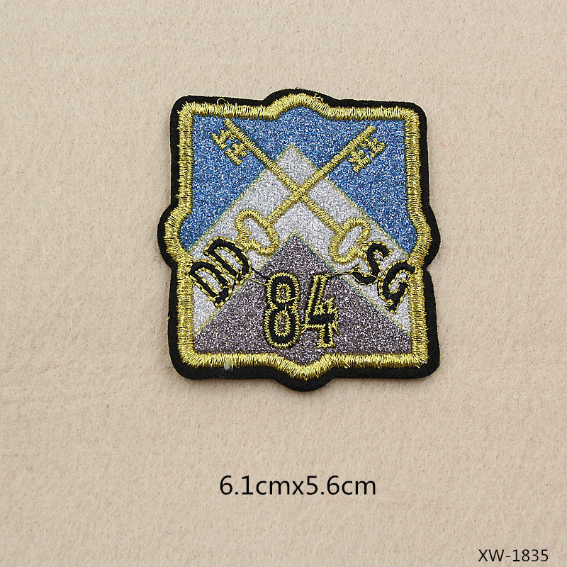 Iron On M Letter Shield Badge Embroidery Applique Patch Sew Iron Badge