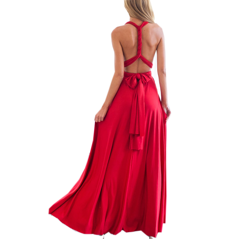 81dd6bd0c8 Aliexpress.com : Buy 2018 Summer Sexy Women Maxi Dress Red Black Bandage  Long Dress Sexy V neck Wrap Around Design Robe Longue Femme S M L from  Reliable ...