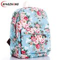 Women sweet Rose Flower printing Backpack children school college shoulder book bags preppy girls canvas backpacks L4-1216