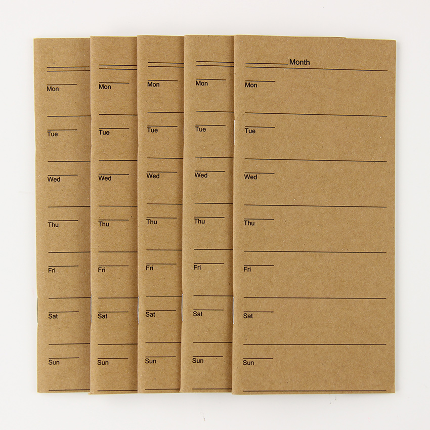 1PC Week Plan Notebook Vintage Notepad Copybook Daily Memos s
