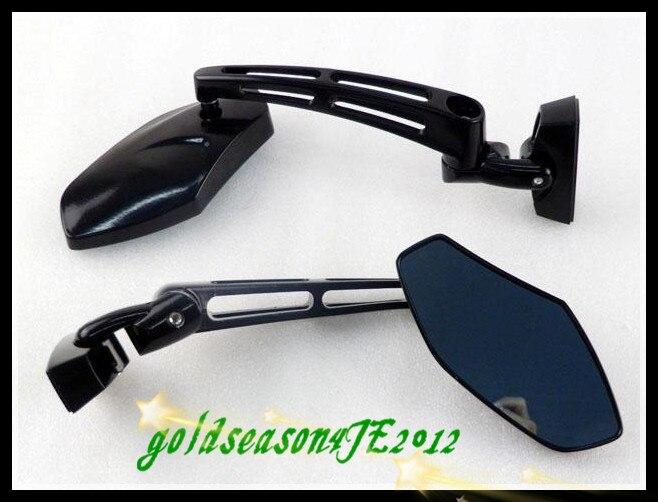 Pour honda cbr 600 1000 rr f4ifreeshipping moto gloss noir mini sport miroirs