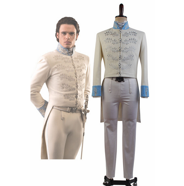 Cendrillon 2016 le film Prince charmant Richard Madden Costume COSplay tenue pour hommes adultes