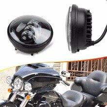 DOT SAE E9 4.5 «Дюймовый Точечные Светильники 6000 К Белый Ближнего Проектор Противотуманные Фары для Harley Davidson Daymaker мотоциклы
