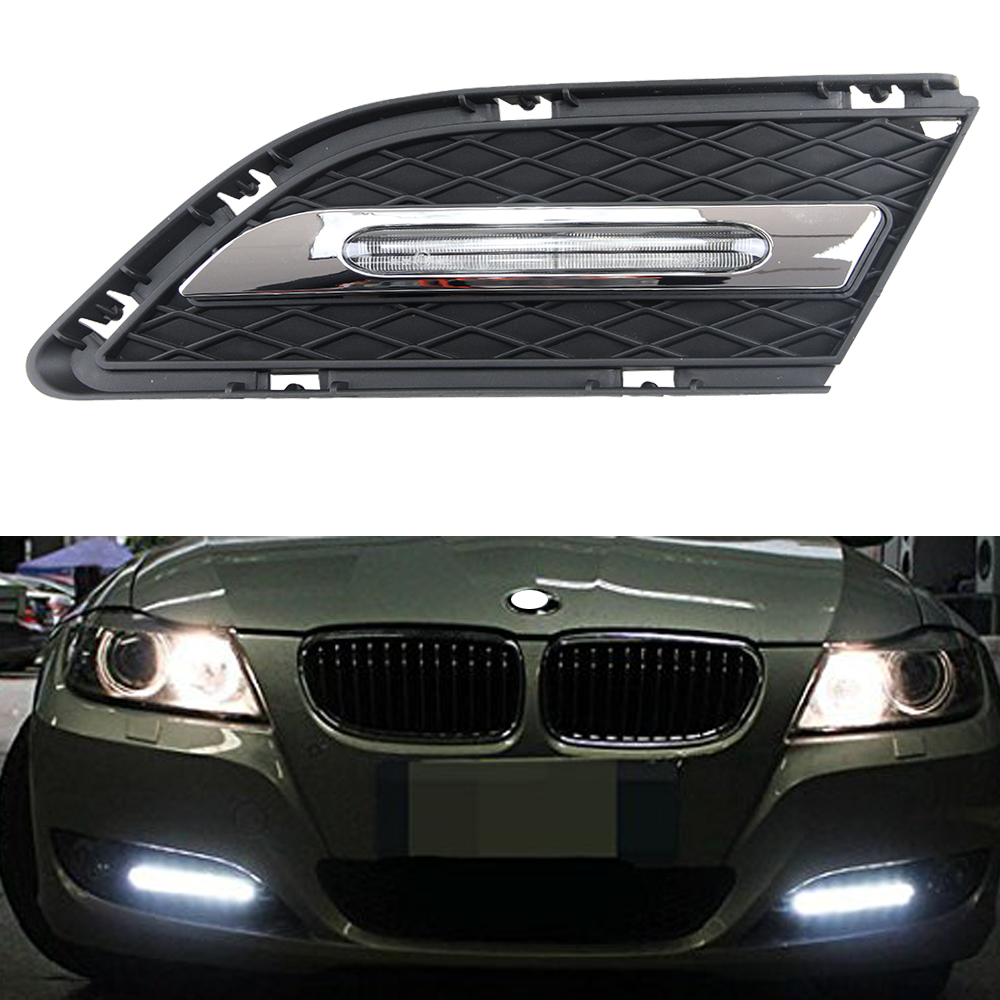OEM Fit 15W High Power LED Daytime Running Lights DRL Kit For BMW E90 LCI 316i 318i 328i 330i Sedan 2009 2010 2011 2012 high quality light high power led daytime running lights for bmw e90 lci 3 series sedan 15w 2009 2012 freeshipping