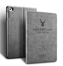 For iPad Mini 1 2 3 Case Leather Smart Awake Sleep Flip Cover Green Deer 3D Carving Back Shell For iPad Mini 3 2 1 Cases YCJOYZW godmask awake eu
