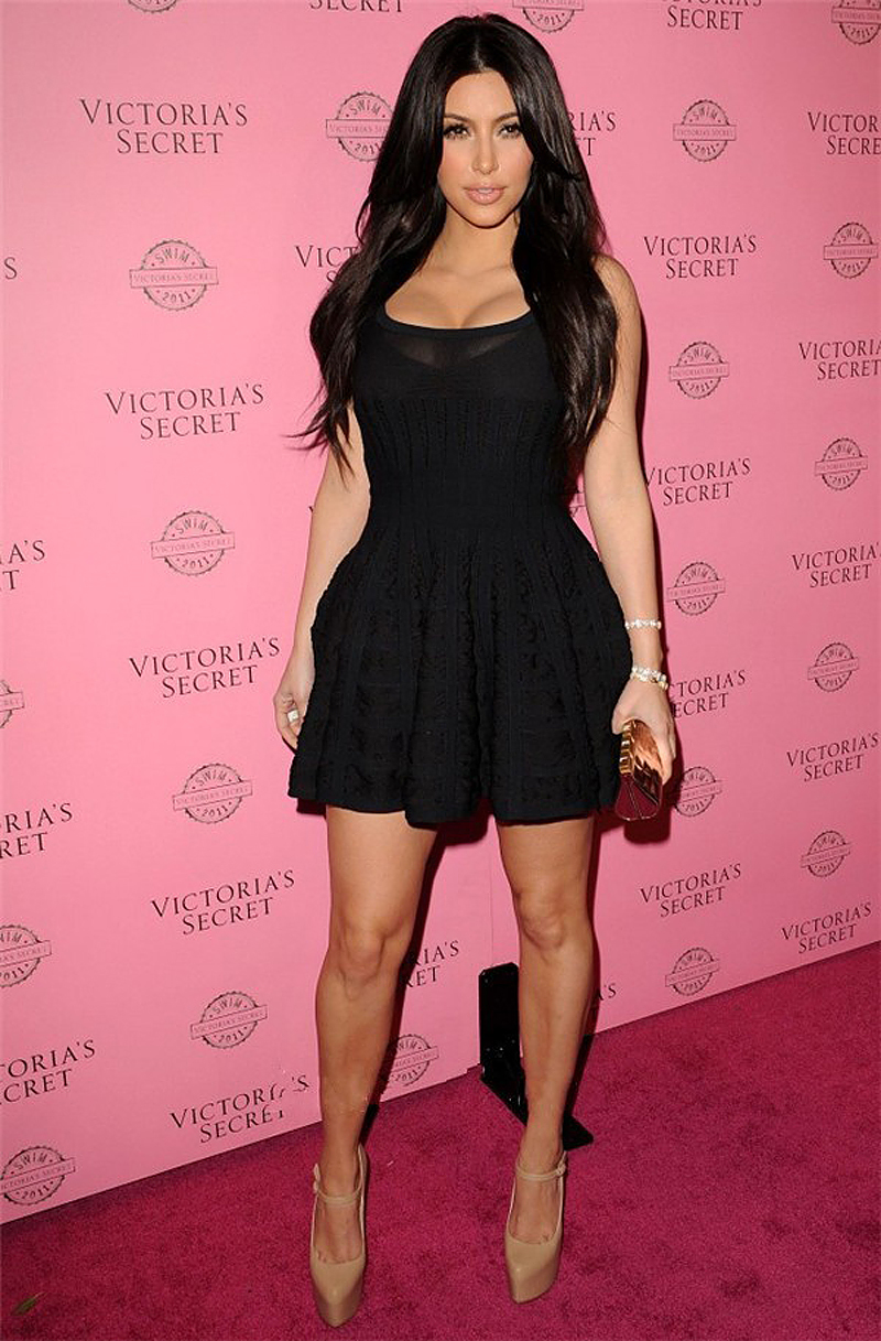 2015 Celebrity Dresses Little Black Dresses Kim Kardashian Dress A ...