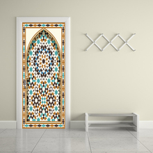 77x200cm Newest Islam Muslim Gate Door Sticker Ramadan Door Removable Wall Sticker Living Room Bedroom Home Decoration YMT063