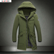 M-3XL Winter Men's Down Cotton Jacket Winter Coat Fashion Fur Collar Solid Long Parka Male Plus Size Outwear 2016 New M-XXXL