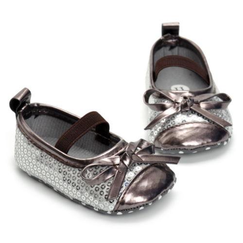 Newborn Baby Girl Sequins Bow Shoes First Walkers Infantil Kids Toddler Princess Summer Prewalker Anti-Slip Mocassins Shoes